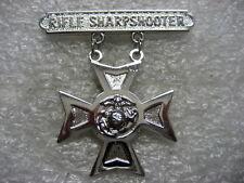 US Marine Corps badge RIFLE SHARPSHOOTER full size