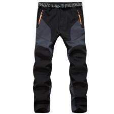 Outdoor Hiking Men's Warm Fleece Pants Windproof Waterproof Trekking Trousers