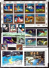 SP130 Ras El Khaima/Ajman blocs et timbres:Le cosmos, cosmonauts,satellites
