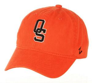 OKLAHOMA ST. COWBOYS NCAA SCHOLARSHIP ORANGE STRAPBACK VINTAGE LOGO CAP HAT NWT!