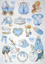 Papier de riz pour decoupage Scrapbook Craft Sheet-Baby Boy