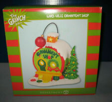 * WHO-VILLE Ornament Shop  * BRAND NEW!!  Dept 56 Dr. Seuss  Grinch  RETIRED