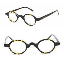 Super Small 39mm Spring Hinges Vintage Oval Acetate Eyeglass Frames Full Rim