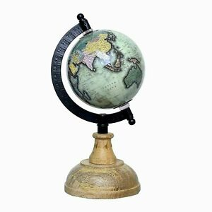 Educational Political Laminated Rotating World Globe with Metal arc and Base