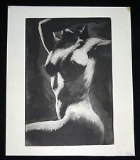 1931 California Etching Aquatint Print Nude by Hutton Webster Jr (1910-1955)(Kel