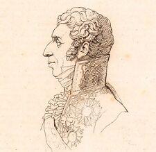 Portrait XIXe Pierre de Montesquiou Fezensac Napoléon Premier Empire 1821