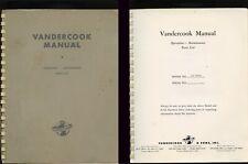 VANDERCOOK Letterpress Model 219 MANUAL ( Operation Maintenance Parts List )