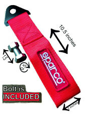 Sparco tow strap RED JDM towing hook for tuning and racing cars