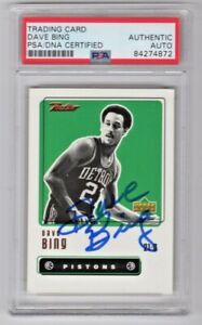 1999 Upper Deck Retro Dave Bing Pistons Signed Auto Trading Card #46 PSA/DNA