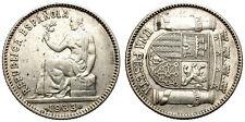 II REPUBLICA ESPAÑOLA. 1 PESETA 1933 * 34. GIRADA 90º. BELLO GIRO.