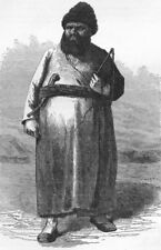 IRAN. A Turkoman 1880 old antique vintage print picture