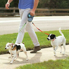DOG LEASH PET AUTOMATIC TELESCOPIC DOUBLE TRACTION DOG LEASH ROPE FOR TWO