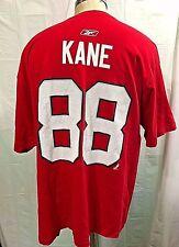 REEBOK CHICAGO BLACKHAWKS PATRICK KANE #88 NHL T-SHIRT RED MEN'S 2XL XXL RED