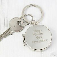Personalised Double Photo Keyring-Free Laser Engraving-/Wedding/Remembrance