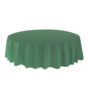 "Allgala 12-Pack Premium Plastic Table Cover Round 84"" Disposable Tablecloth"