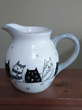 New listing Cute Whimsical Cupboard Cat Pitcher Kittens 6 inches tall