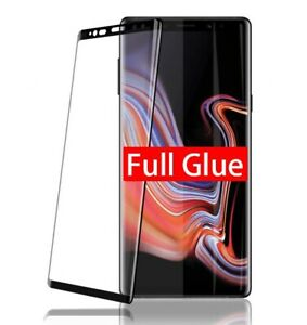 For Samsung S8 Plus Note Full Glue Case Friendly Tempered Glass Screen Protector