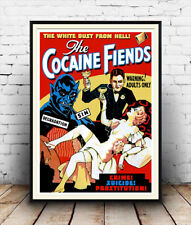 Cocaine fiends  vintage Film poster reproduction.