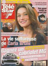 Tele Star N° 1433 Du 15/03/2004 - Carla Bruni - B. Cantat - Marie Trintignant