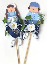 Antje und Jan als Blumenstecker mit Holzschuhe - Holland - Blumen