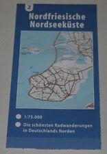 "Radwanderkarte ""Nordfriesische Nordseeküste"" (2) Radkarte Landkarte 1:75.000"