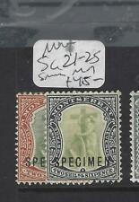 MONTSERRAT   (P3103B)   2/-, 2/6  SG 21-2 S  SPECIMEN  MOG