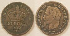 20 Centimes argent Napoléon III 1866 A !!