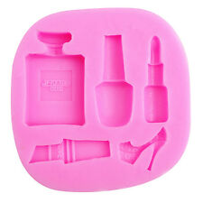 Lipstick Makeup Tool Fondant Cake Molds Sugarcraft Soap Chocolate Baking Mould