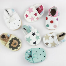 0-6 Months Baby Shoe Bundle Dotty Fish Soft Leather Pram Shoes First Booties New