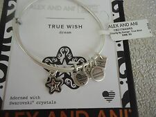 Alex and Ani TRUE WISH Rafaelian Silver Charm Bangle New W/ Tag Card & Box