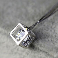 Fashion Women's Silver Plated Chain Crystal Rhinestone Necklace Pendant 1pcs
