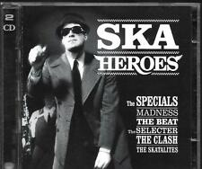 2 CD COMPIL 40 TITRES--SKA HEROES--MADNESS/SPECIALS/THE BEAT/THE CLASH/SELECTER