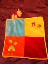 Winnie The Pooh Bear Comforter Baby Snuggle Blankie Bright Bees