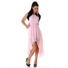 Sexy Abendkleid Cocktailkleid Vokuhila Kleid Plissee mit Spitze, S-M-L 36-38-40