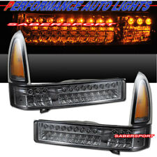 Set of Pair Smoke LED Signal Lights for 1999-2004 Ford SuperDuty and Excursion