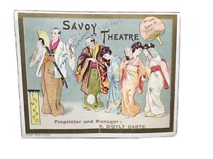 Original Card Cover For The Second Revival Of The Mikado (1897) Cover Only