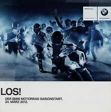 Bmw motos motocicleta folleto 24.3.12 2012 temporada inicio brochure r1200rt, etc.