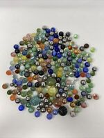 Vintage Marbles Lot Of 200 Total Mixed Steelies Estate Find Various Colors Sizes