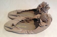 Juicy Couture New Genuine Tan Leather Slip On Shoes Pumps Girls Size 12 (EU 31)