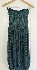 KOOKAI WOMENS DRESS PRINTED GREEN BLACK POLY ELASTANE STRAPLESS SZ 1