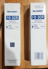 2 x Genuine Sharp F0-3CR fax rolls imaging film - 4 x 30m