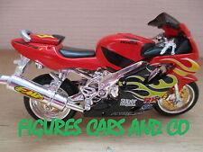 MOTO 1/18  HONDA CBR 600 F4i 2003 TUNING ROUGE NOIRE JAUNE MAISTO