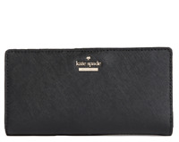 Kate Spade Cameron Street Stacy Wallet Card Case Holder Black Leather New NWT