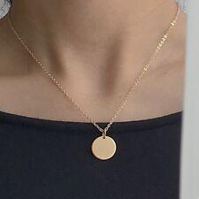 UK rose gold/ gold tone circle pendant choker style necklace