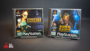 Tomb Raider Chronicles AND tomb raider III Playstation 1 PS1 FAST AND FREE UK P