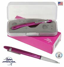 Fisher Space Pen #400FFCL / Fuchsia Flurry Bullet Pen with Chrome Clip