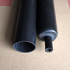 "25.4mm 1"" Adhesive 3:1 Heat Shrink Tubing Tube Black 3FT"