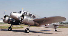 Giant 1/5 Scale American WW-II Cessna AT-17/ UC-78 Bobcat Twin Plans, Inst 102ws