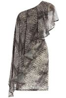 New Ladies Grey Party Dress Snake Print Body con Dress