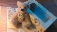 Steiff 2005 Club Gift Silver Grey Teddy Mohair 7cm Boxed With Certificate